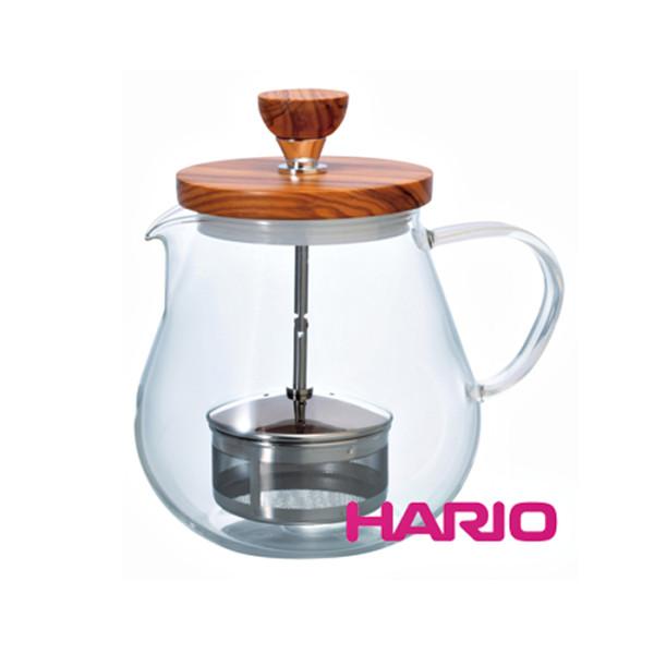 日本【HARIO】橄欖木濾壓茶壺700ml TEO-70-OV