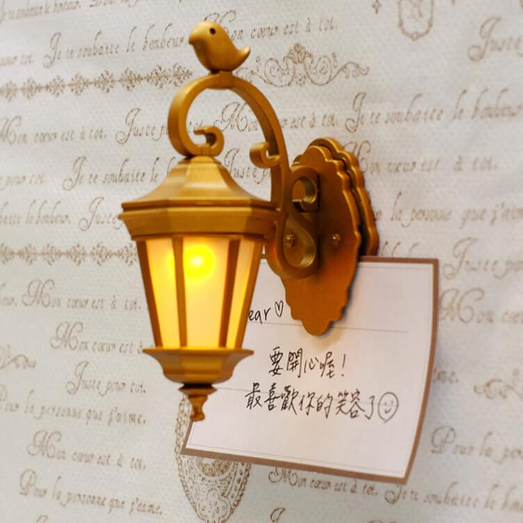 【微生物】迷你壁燈磁鐵夾(復古銅)
