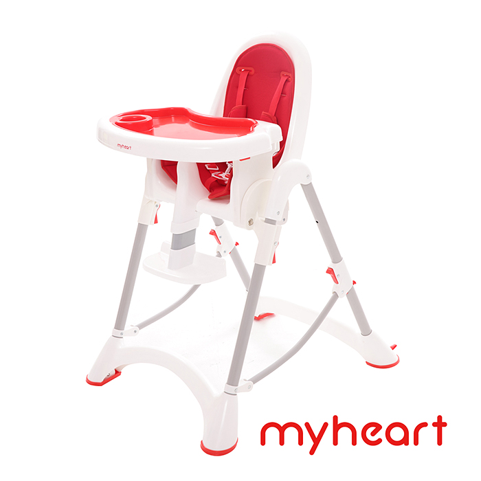 【myheart】折疊式兒童安全餐椅(蘋果紅)