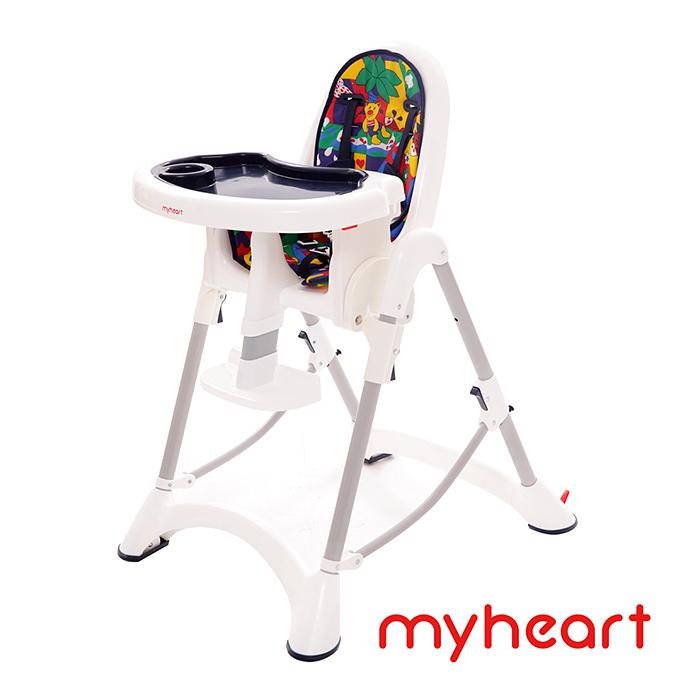 【myheart】折疊式兒童安全餐椅(卡通藍)