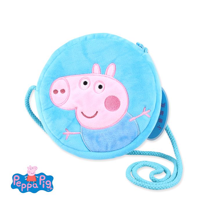 兒童/幼童 側背/斜背包 Peppa Pig 佩佩豬毛絨剌綉款(藍)