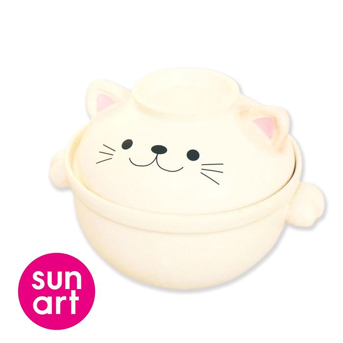 日本sunart陶鍋 貓咪0.7L