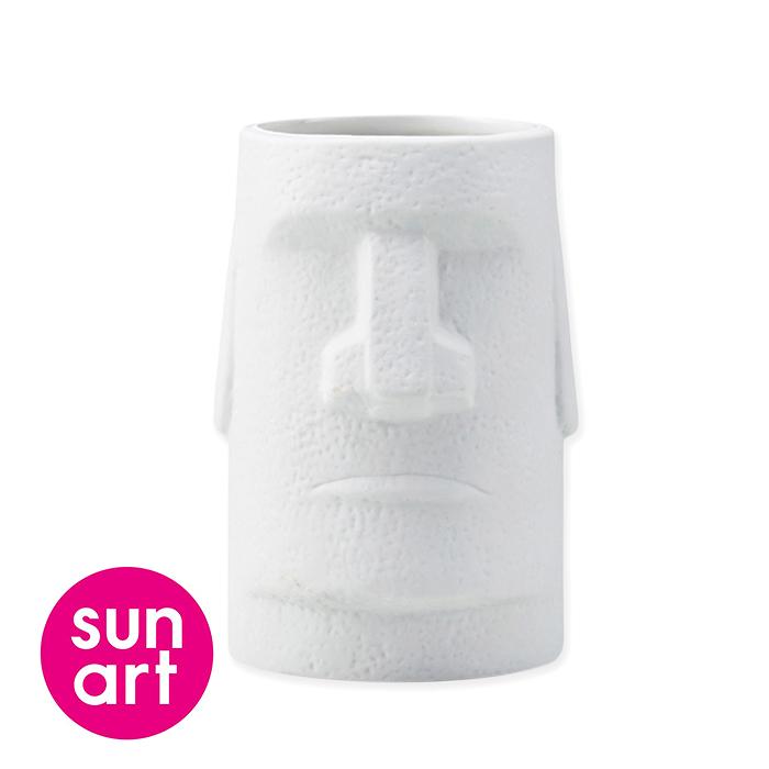 日本sunart馬克杯 摩艾石像