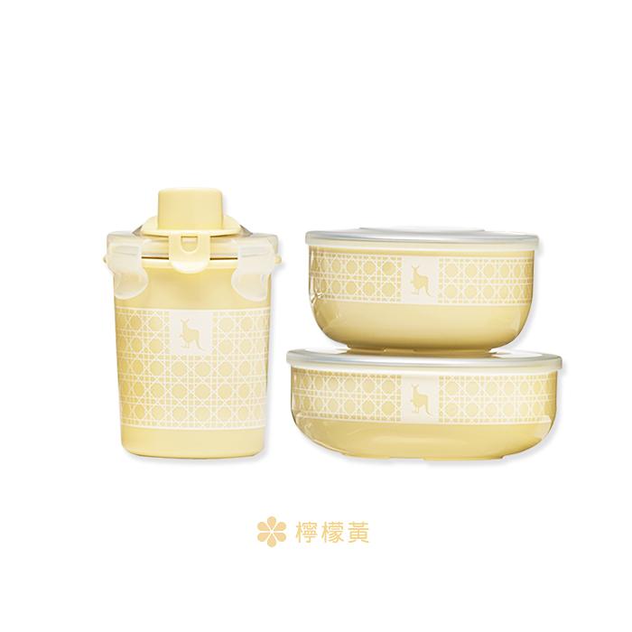 美國 Kangovou 小袋鼠100分簡配餐具組(檸檬黃)
