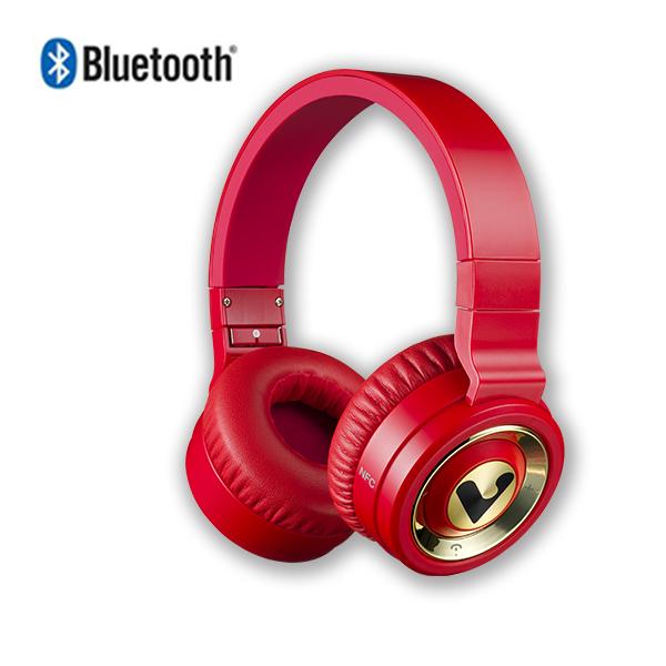 V-smart VH301 藍芽耳機 鋼琴紅