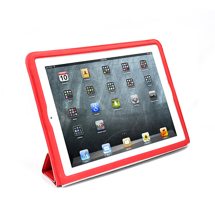 V-smart New iPad/iPad2 Smart cover 保護套(紅)