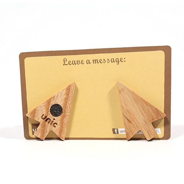 Unic天然原木造型磁鐵+精品禮卡(滑鼠箭頭)